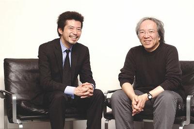 左:関心空間代表取締役 前田邦宏氏。右:武蔵野美術大学デザイン情報学科教授 今泉洋氏。