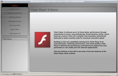 図1 FreeBSDで動作するWindows Flash 9+Windows Firefox その1