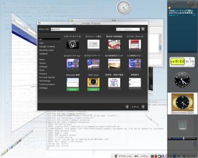 図 Google Desktop Gadgets 動作例