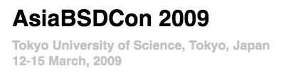 図1 AsiaBSDCon 2009