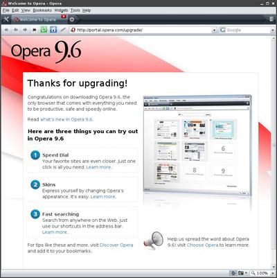 図1 FreeBSD Opera 9.60