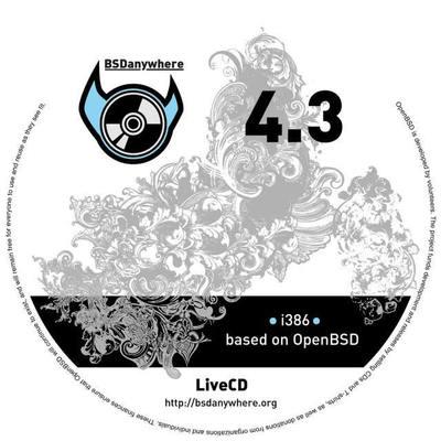 図2 BSDanywhere 4.4 CDラベル - BSDanywhereサイトより抜粋