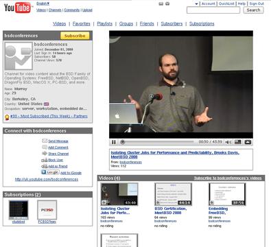 図 YouTube - bsdconfereces's Channe