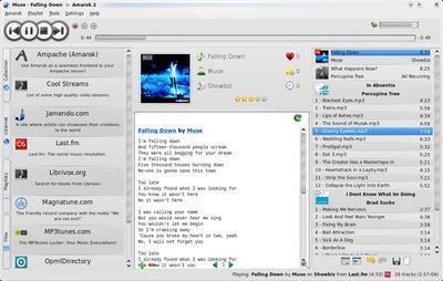図1 Amarok 2.0.0動作画面 - Amarokサイトより抜粋