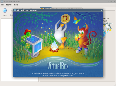 図1 VirtualBox動作例