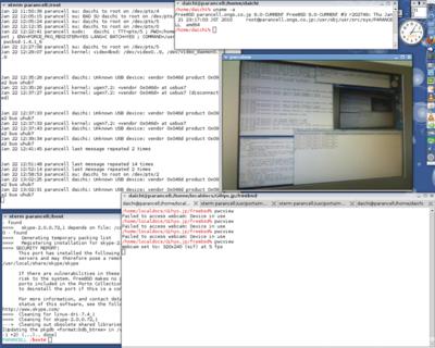 図 pwcview(1)の実行例 - Webカメラでディスプレイを撮影