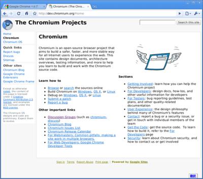 図6 FreeBSD 9-CURRENT/amd64で動作するChromiu
