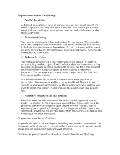 図2 FreeBSD Foundation Call for Submission of Proposals Last Updated: 01(2ページ目)