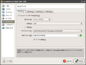 図3 VirtualBox 3.1.4動作例 on FreeBSD 9-CURRENTその3
