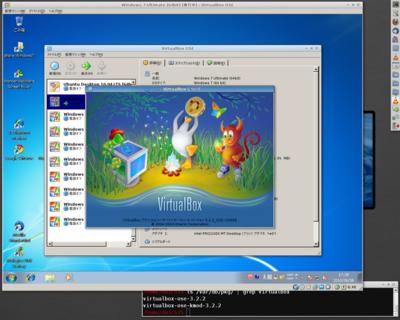図 VirtualBox 3.2.2 on FreeBSD 9