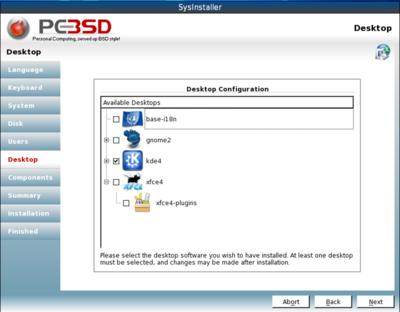 図1 PC-BSD 9.0インストーラスナップショット(Official PC-BSD Blogより抜粋)
