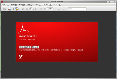 図1 Adobe Reader 9 on FreeBSD kernel