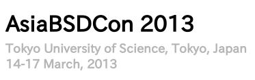 図1 AsiaBSDCon 2013