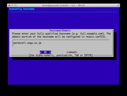 bsdconfig(8)実行例