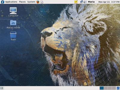 GNOMEのデスクトップ画面