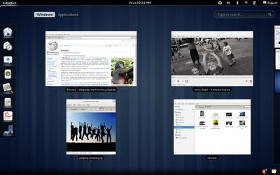 リリースノートにあるGNOME 3.0の画面ショット