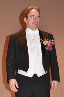 2010年11月,NEC C&C賞授賞式でのLinus