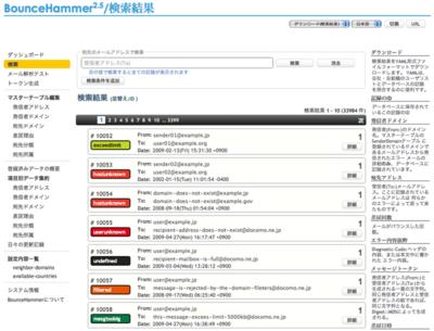 図2 BounceHammerの管理画面