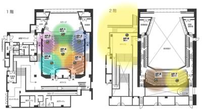 藤原洋記念ホールのAP配置図