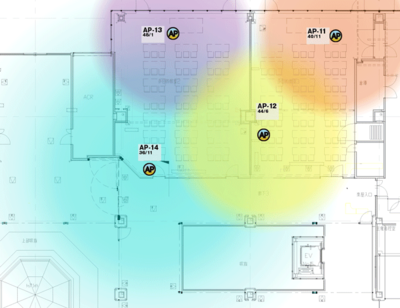 多目的教室2,3のAP配置図