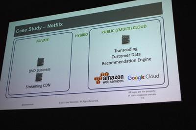 AWSの成長を初期から支えたNetflixだが,現在はAzureやGCPも加えたマルチクラウドおよびハイブリッドクラウドを構築している