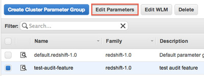 図5 Cluster Parameter Groupの編集メニュー