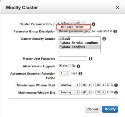 図7 Modify Cluster画面