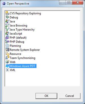 図2 「Windows Azure PDT」を選択
