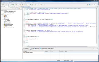 図7 Sample1_WebRole1のindex.phpを表示