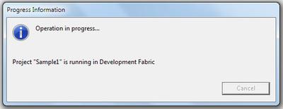 図10 Azure環境の初期化中