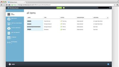 図2 新しい管理ポータルの画面