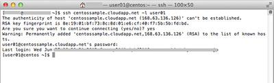 図9 SSHでCentOSにログイン