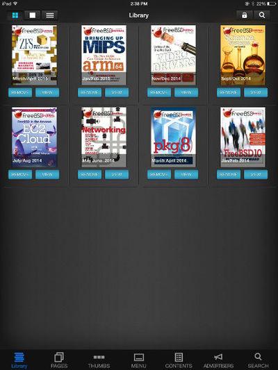 図1 FreeBSD Journal on iPad
