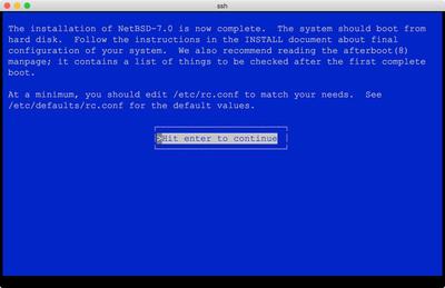 図7 NetBSD on bhyveインストールのよう