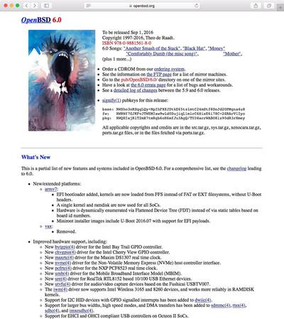 図 OpenBSD 6.0