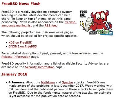 January 2018|4 January|FreeBSD News Flash