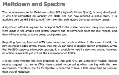 Recent Security Affairs February 05, 2018 posted by Maxime Villard Meltdown and Spectre