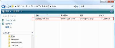 図1 copy-txt.exe