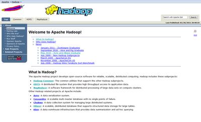 図 Apache Hadoop公式サイト