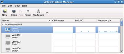 図1 virt-managerの管理画面