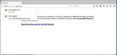 図1 IDNフィッシングのデモサイトアクセス例