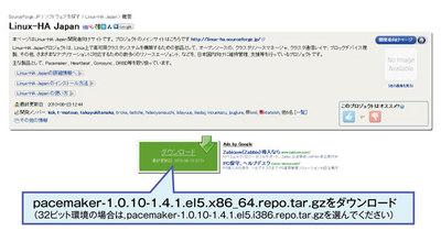 図2 Linux-HA Japan Pacemakerリポジトリパッケージ