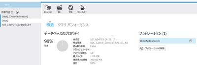 図3 SQL Azure管理ポータルでフェデレーションの確認