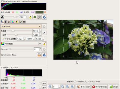 図2 UFRawの現像画面