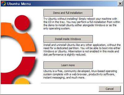 図1 Desktop CDを読み込んだ時の画面