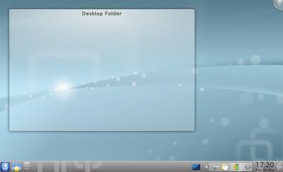図2 KDEのデスクトップ画面