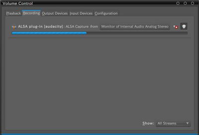 図5 Monitor of Internal Analog Stereoを選択