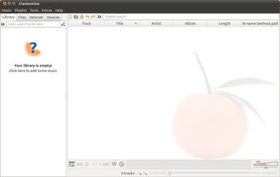 図3 Clementineの画面。左側にライブラリやデバイス,右側にプレイリストが表示されるという2ペイン方式だ