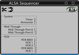 図4 Aconnectguiの画面。PCR-M30がポートを開いているのがわかる