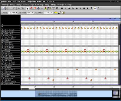 図5 パーカッションエディターはドラム音源を扱うのに利用する